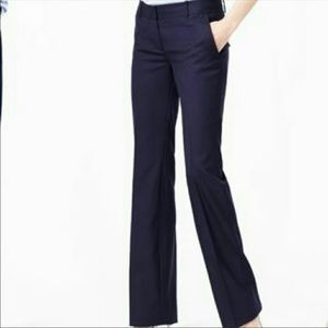 NWOT J. Crew City Fit Navy Wide Leg Trouser Pants